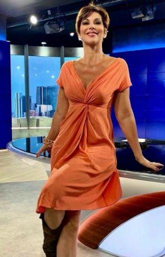 Giornalista Sky TG24 Valentina Bendicenti al lavoro
